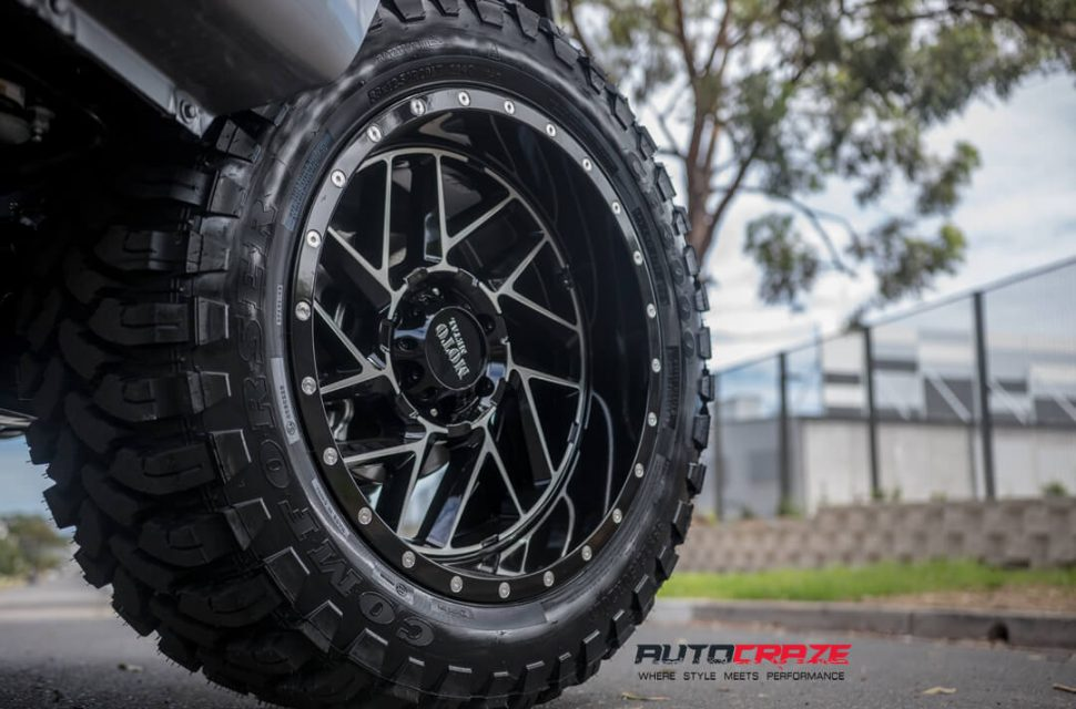 Mazda BT-50 Moto Metal MO985 Wheels Wheel Close Up Shot Gallery February 2018