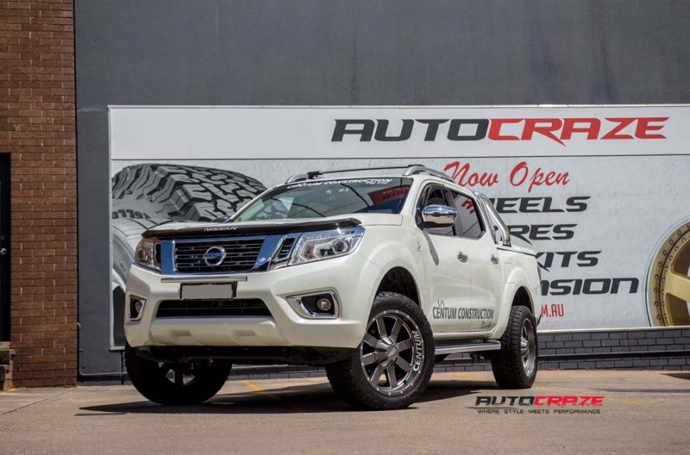 Nissan Navara with Moto Metal MO962 Wheel and Nitto Terra Grappler tyre front wide angle shot march 2018