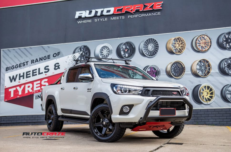 Toyota Hilux Diesel Exodus Wheels Nitto Terra Grappler Tyres Front Close Shot