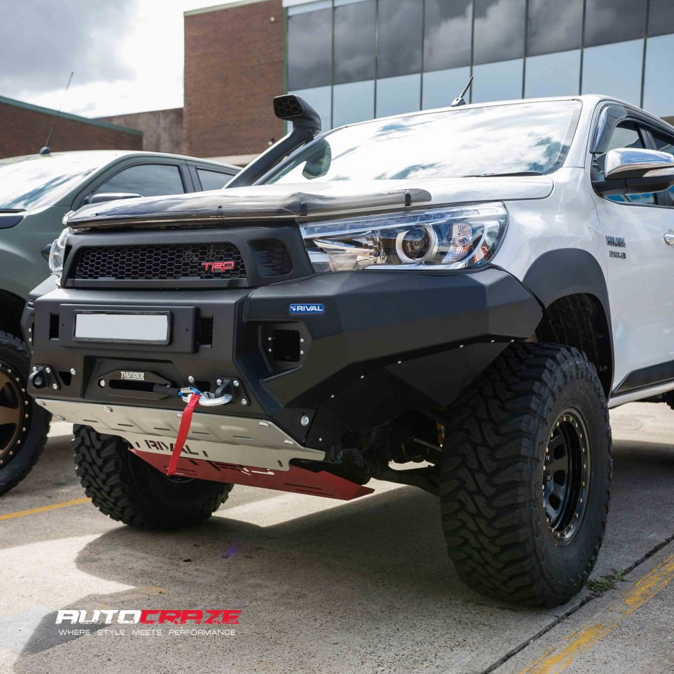 Toyota Hilux Rival BullBar | Drivetech 4x4 Bumper By Rival for Toyota Hilux
