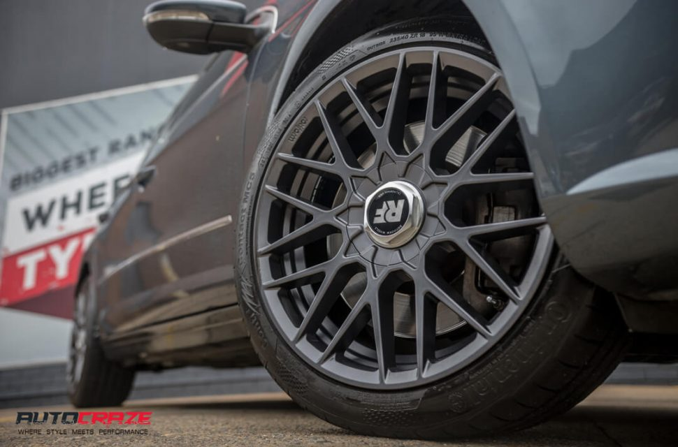 Volkswagen CC Rotiform RSE Continental Tyres Front Fitment Close Up Shot Gallery February 2018