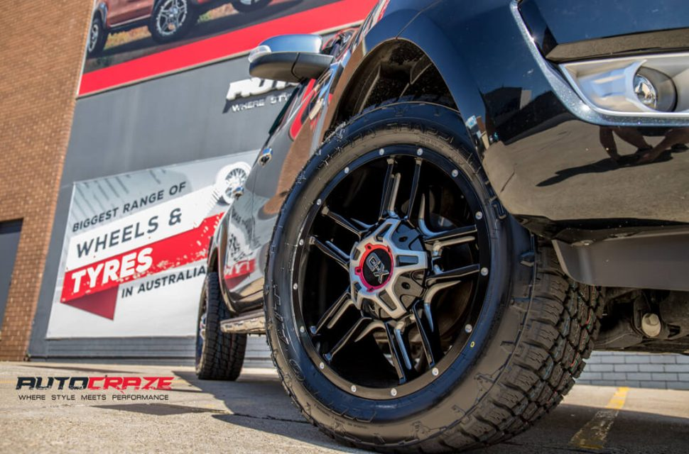 Ford Ranger KMC XD Clamp Wheels Nitto Tyres Front Fitment Close Up Shot Gallery March 2018