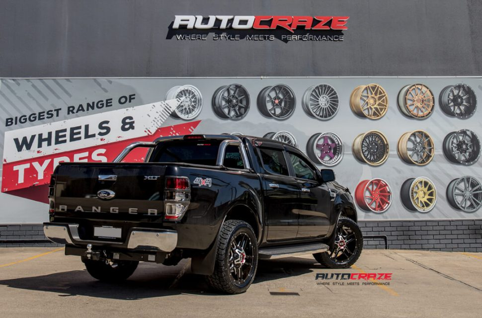 Ford Ranger KMC XD Clamp Wheels Nitto Tyres Rear Close Up Shot Gallery March 2018