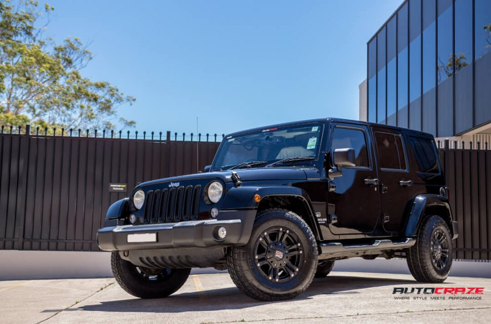 Jeep Wrangler KMC XD Monster Wheels Nitto Terra Grappler Tyres Front Close Shot Gallery Janurary 2018