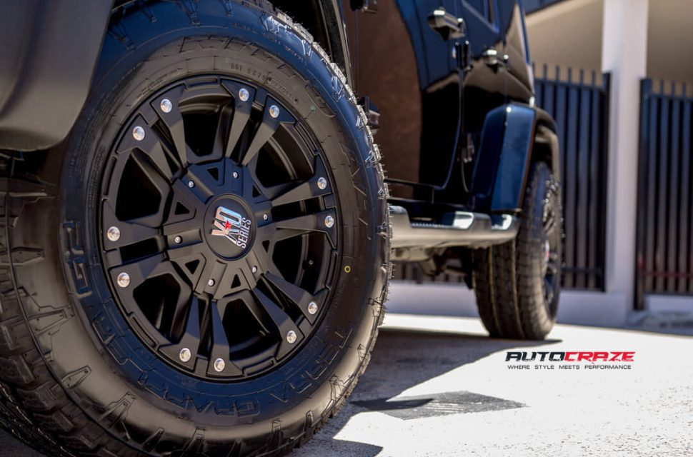 Jeep Wrangler KMC XD Monster Wheels Nitto Terra Grappler Tyres Front Fitment Close Up Shot Gallery Janurary 2018