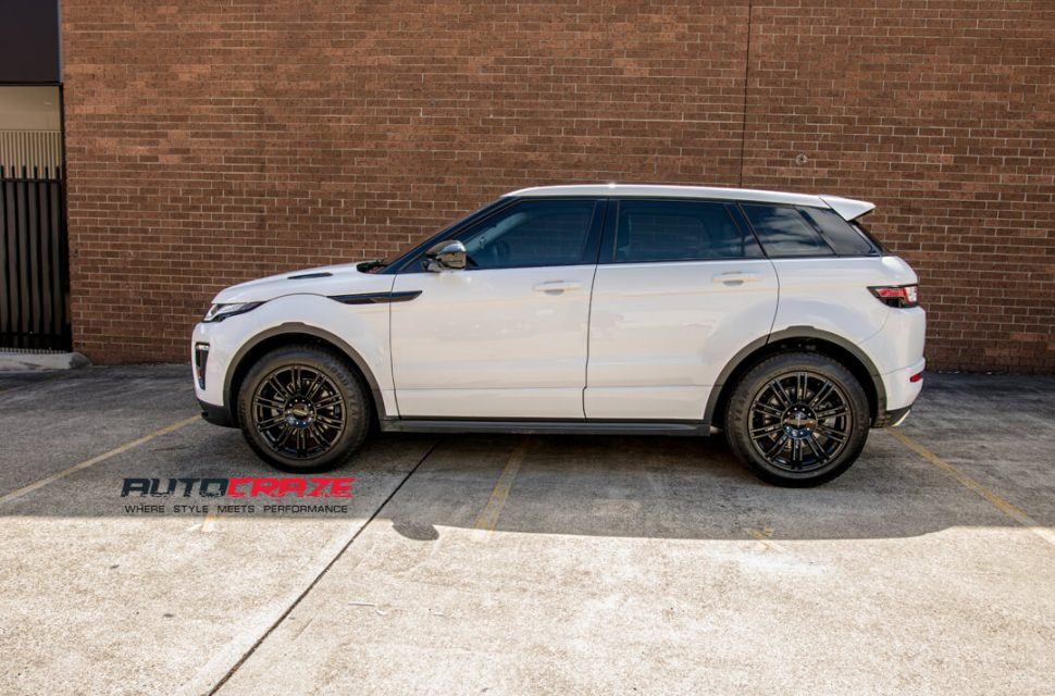 Land Rover Range Rover Evoque KMC KM677 D2 Wheels Side Fitment Shot Gallery March 2018
