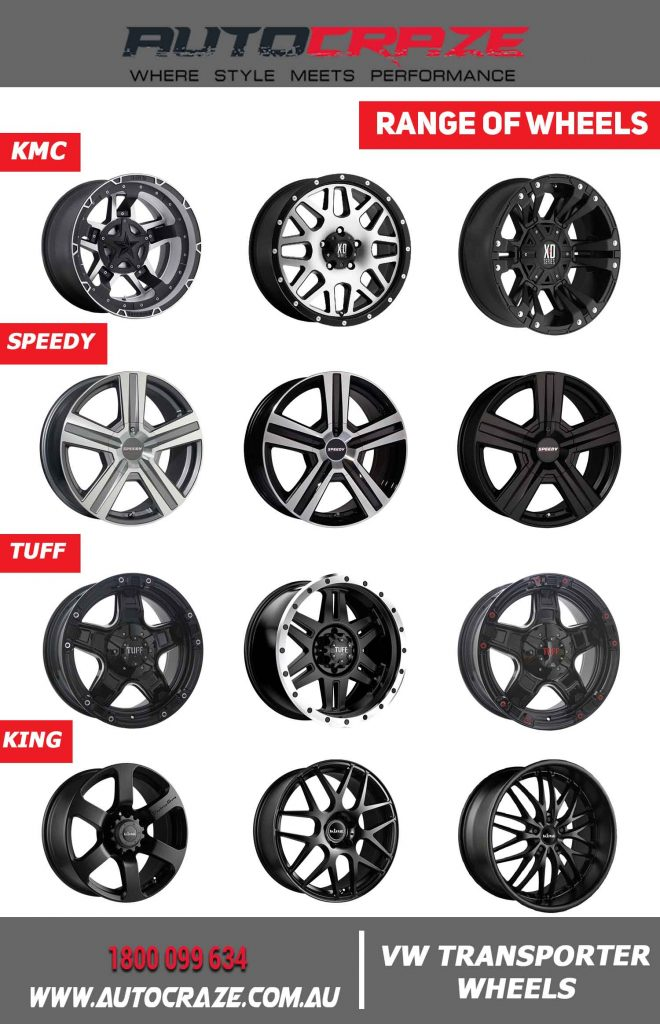 Range of VW Transporter wheels at AutoCraze