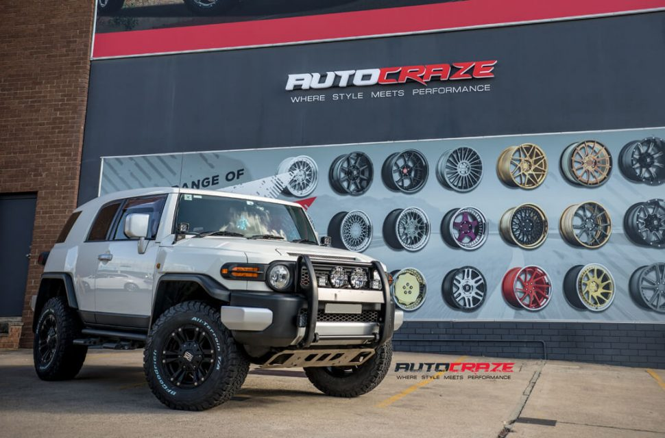 Toyota FJ Cruiser KMC XD Monster 2 Wheels BF Goodrich Tyres Front Close Shot Gallery March 2018