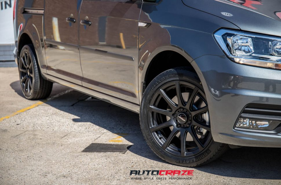 Volkswagen Caddy Speedy Carbine Wheels Front Fitment Close Up Shot Gallery April 2018
