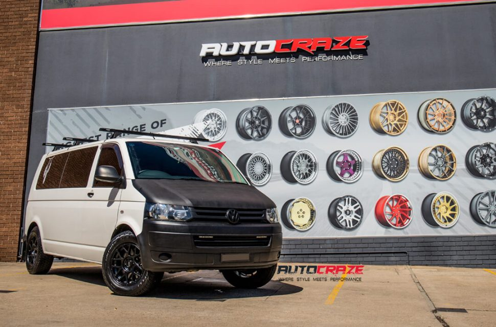 Volkswagen Transporter KMC KM708 Bully Wheels Pirelli Tyres Front Close Shot Gallery March 2018