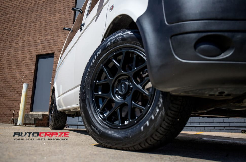 Volkswagen Transporter KMC KM708 Bully Wheels Pirelli Tyres Front Fitment Close Up Shot Gallery March 2018