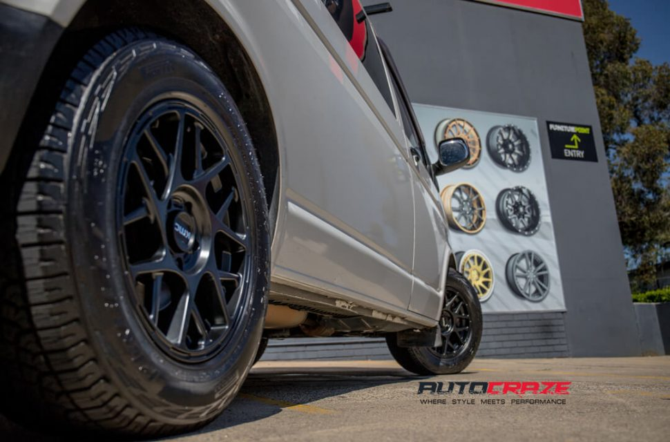 Volkswagen Transporter KMC KM708 Bully Wheels Pirelli Tyres Rear Fitment Close Up Shot Gallery March 2018
