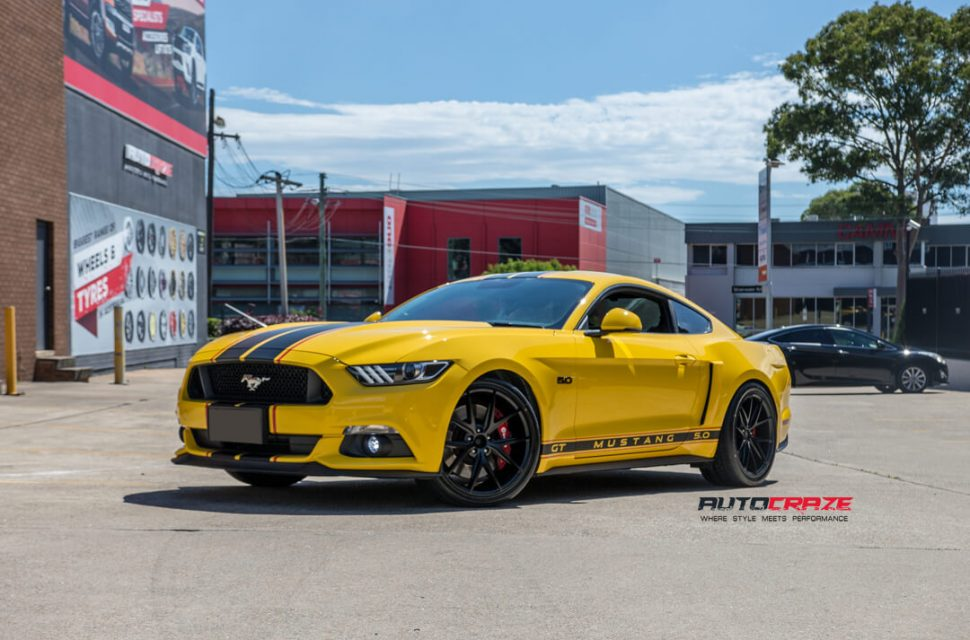 Ford Mustang Niche Misano Wheels Nitto Invo Tyres Front Close Shot Gallery March 2018