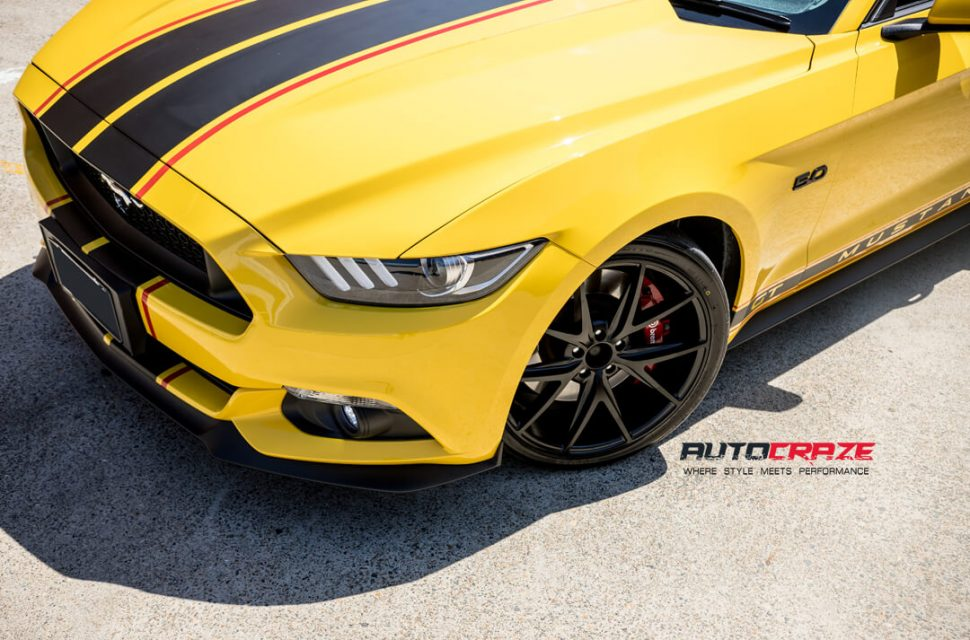 Ford Mustang Niche Misano Wheels Nitto Invo Tyres Front Fitment Close Up Shot Gallery March 2018