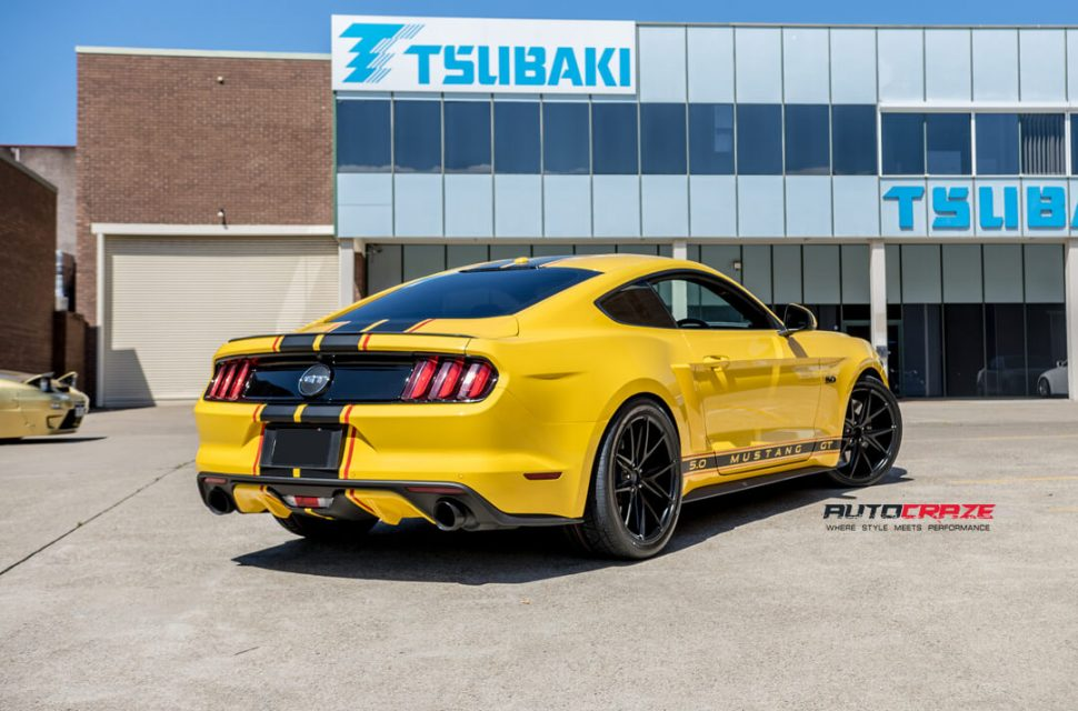 Ford Mustang Niche Misano Wheels Nitto Invo Tyres Rear Close Up Shot Gallery March 2018