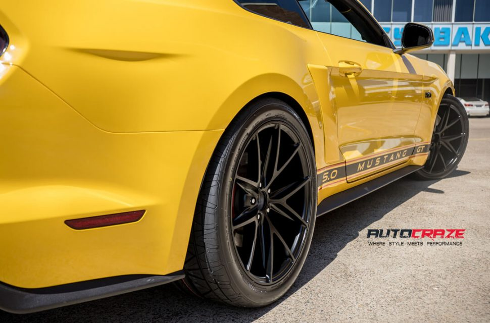 Ford Mustang Niche Misano Wheels Nitto Invo Tyres Rear Fitment Close Up Shot Gallery March 2018