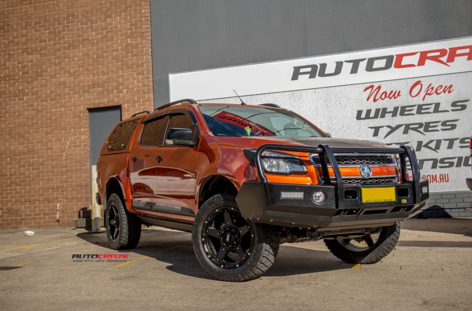 Holden Colorado Grid GD04 wheel Bilstein lift kit front angle shot may 2018