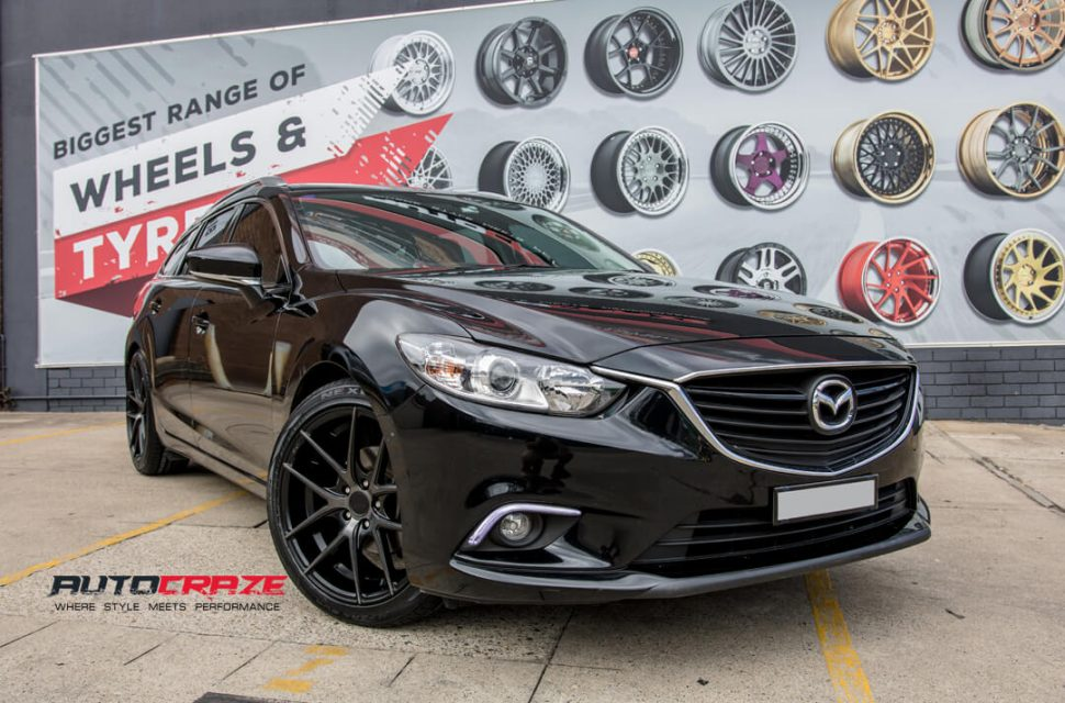 Mazda 6 Niche Targa Wheels Nexen Tyres Front Close Shot Gallery March 2018