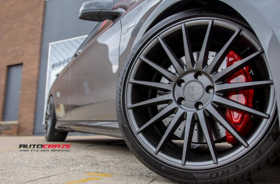 Mercedes CLA45 AMG Niche Form Wheels Pirelli Tyres Front Fitment Close Up Shot Gallery February 2018