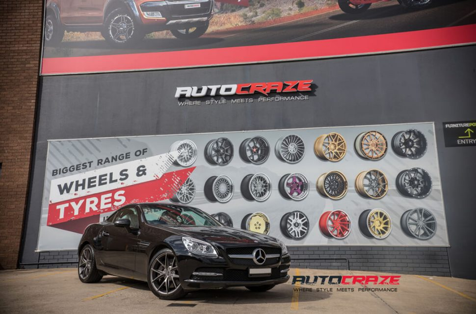 Mercedes SLK 350 Niche Misano Wheels Michelin Tyres Front Close Shot Gallery March 2018