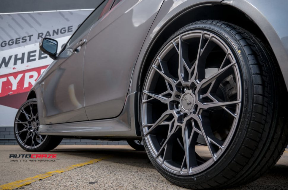 Mitsubishi Lancer Niche Staccato Wheels Rear Fitment Close Up Shot Gallery February 2018