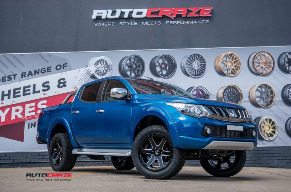 Mitsubishi Triton Fuel Ripper Wheels Nitto Terra Grappler Tyres Front Close Shot Gallery February 2018