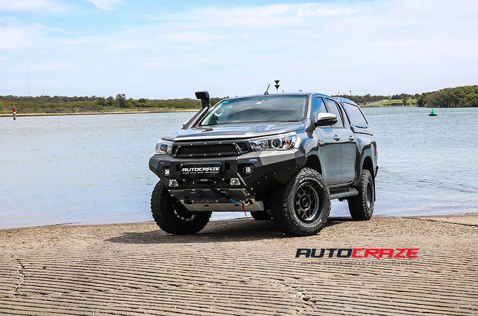 Toyota Hilux Kmc Xd Grenade Or Wheels Bfg Tyres 4x4 Accessories Front Close Sgallery Nov