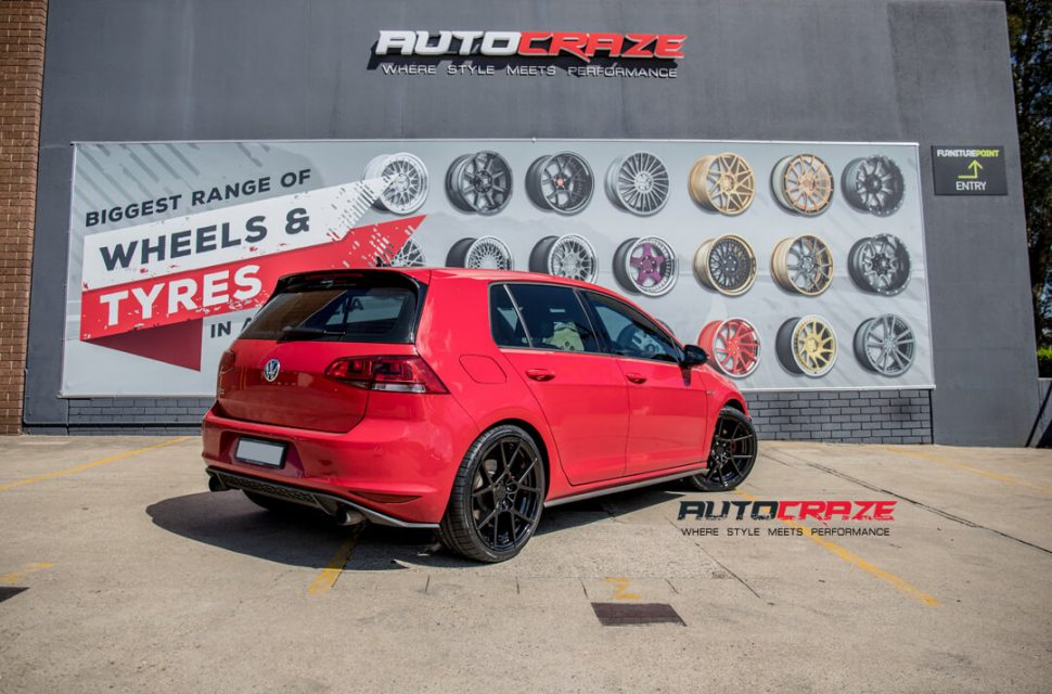 Volkswagen Golf Rotiform KPS Wheels Kumho Tyres Rear Close Up Shot Gallery March 2018