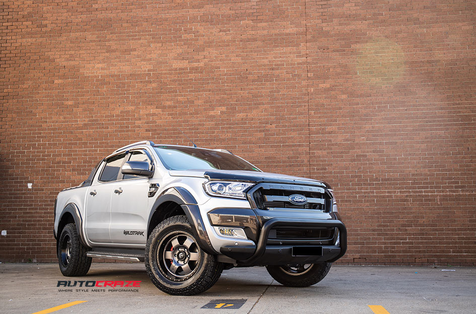 Ford Ranger Fuel Podium WheelsToyo Tyres Head Tail Light Cover Nudge Bar Weathershields Front Close Shot Gallery May 2018