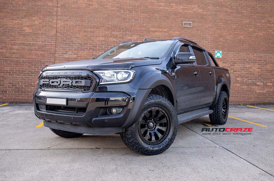 Ford Ranger Fuel Tactic Wheels Toyo Tyres Front Close Shot July