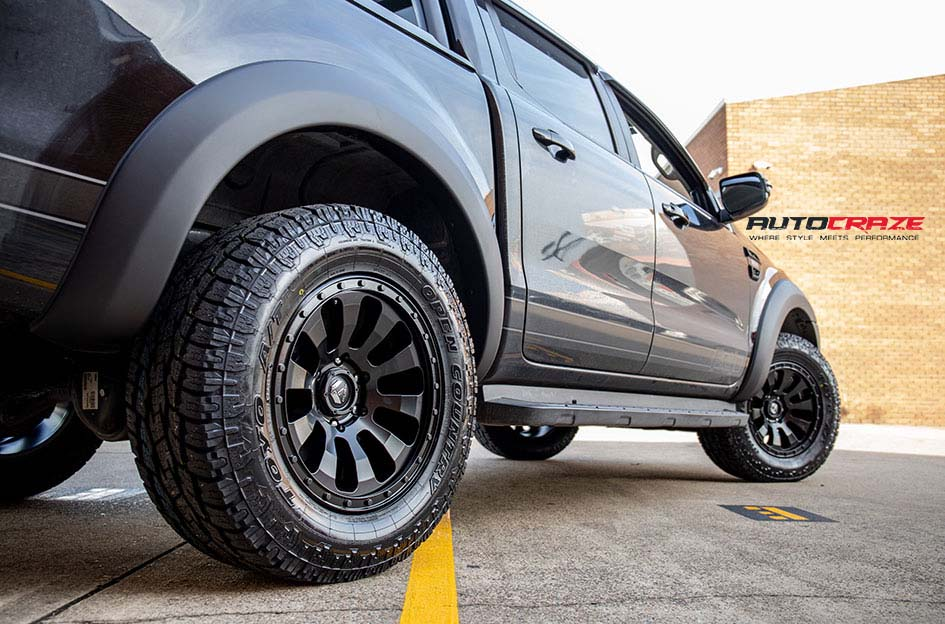 Ford Ranger Fuel Tactic Wheels Toyo Tyres Rear Fitment Close Up Shot Gallery July 2018