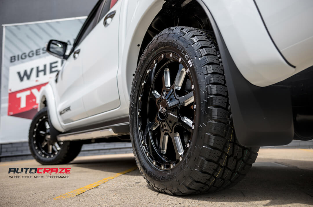 Ford Ranger KMC XD Mammoth Wheels Rear Fitment Close Up Shot Gallery March 2018