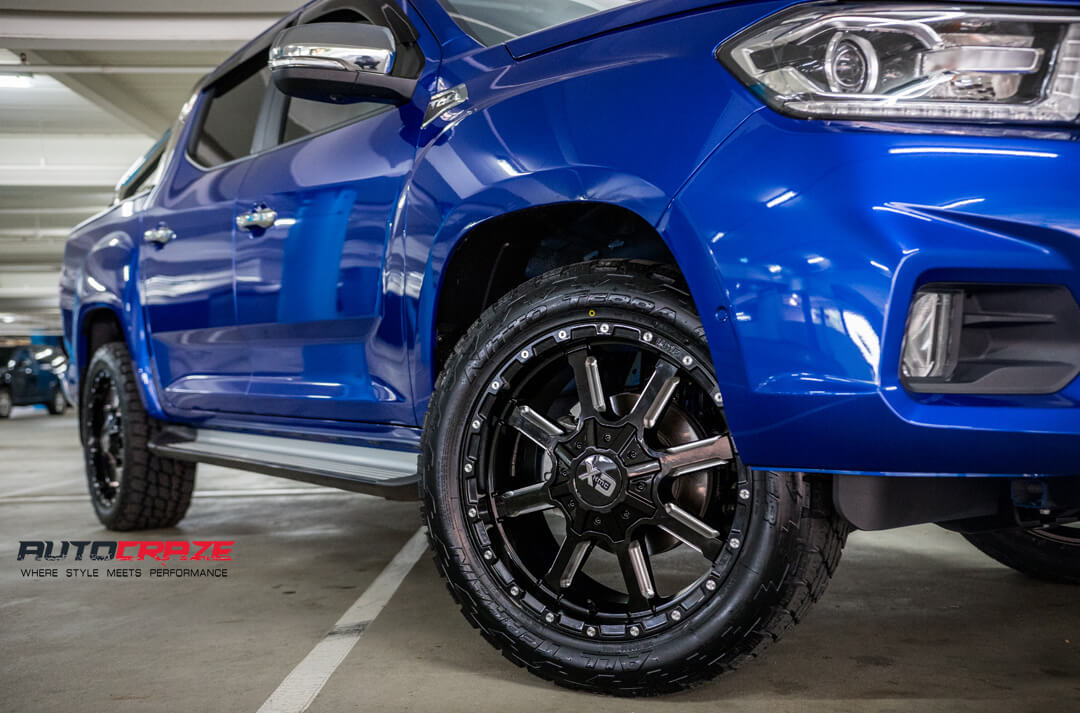 LDV T60 KMC XD Mammoth Wheels Nitto Terra Grappler Tyres Front Fitment Close Up Shot Gallery March 2018