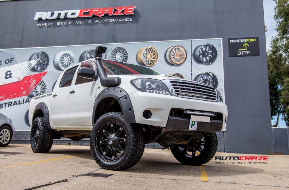 Toyota Hilux Fuel Hostage Wheels Nitto Terra Grappler Tyres Front Close Shot Gallery Janurary 2018