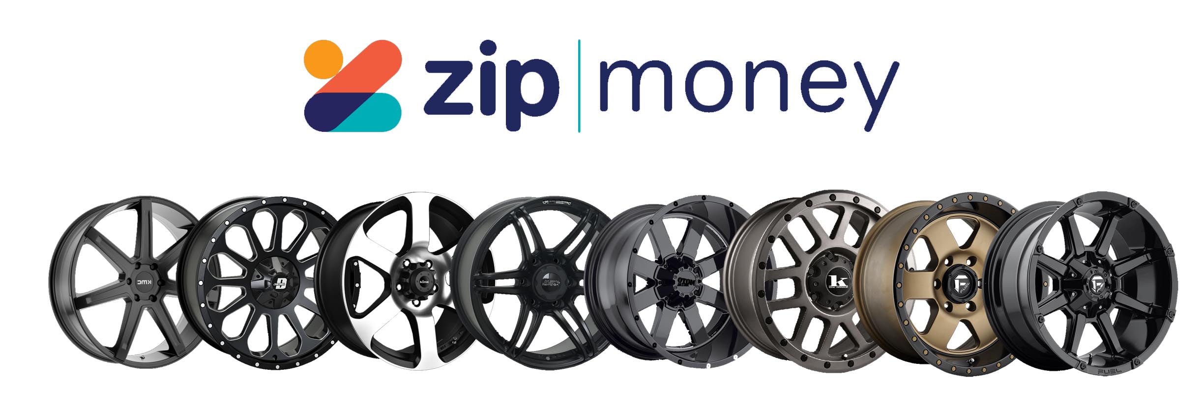 Updated ZipMoney Banner with the new logo. The wheels are specific to the vehicle in topic - Ford Ranger.