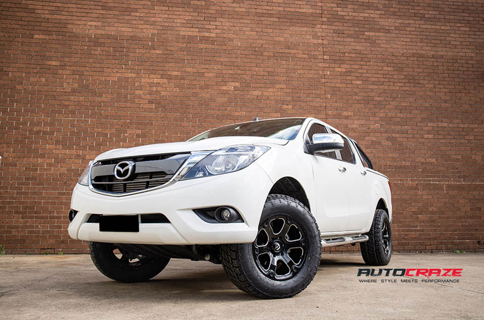 Mazda BT-50 Accessories Fuel Beast Wheels Nitto Tyres Front Close Shot Gallery June 2018
