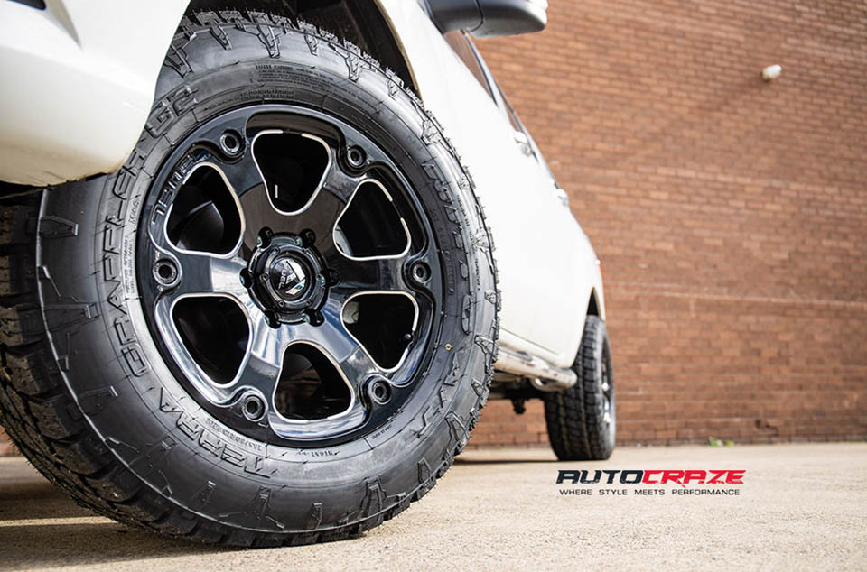 Mazda BT-50 Accessories Fuel Beast Wheels Nitto Tyres Front Fitment Close Up Shot Gallery June 2018