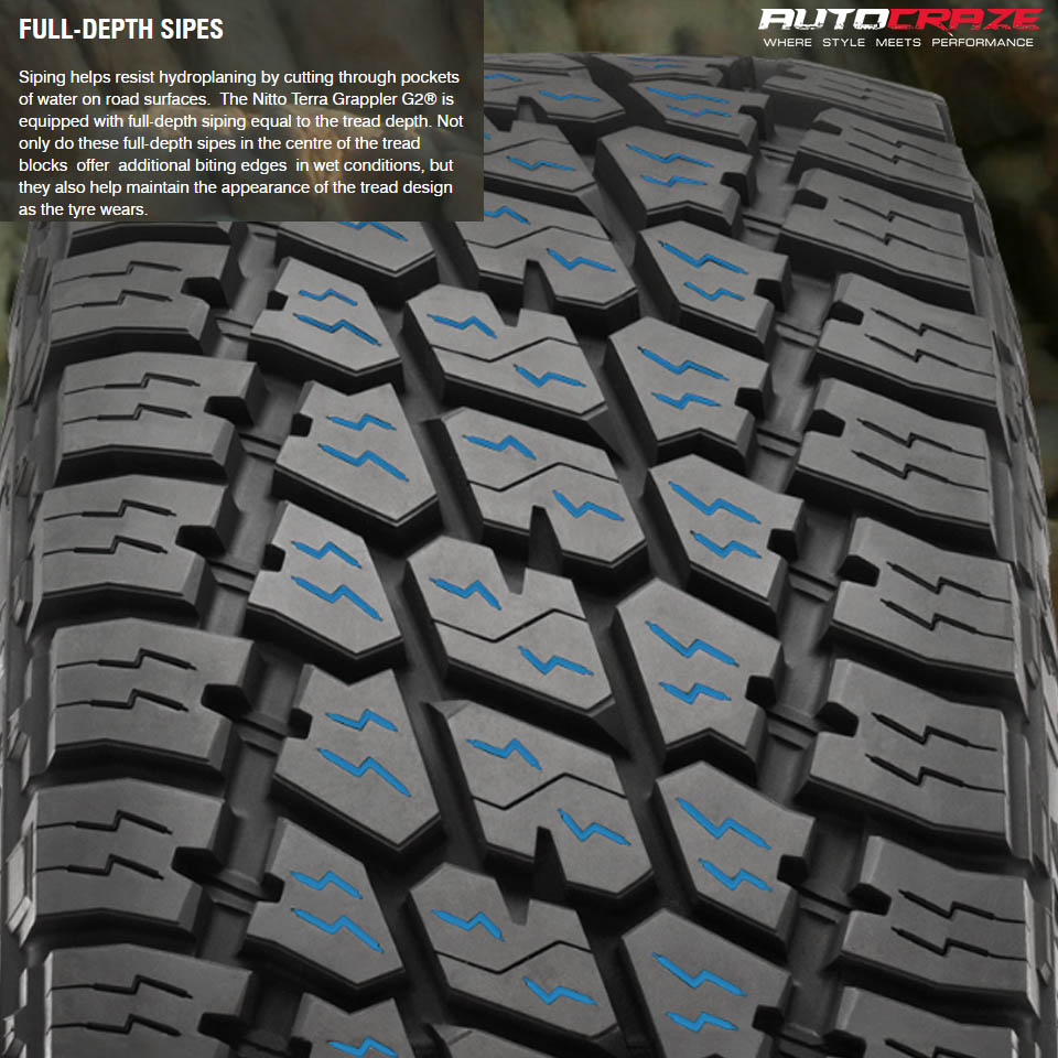 Nitto Terra Grappler G2 Tyre Full-Depth Sipes Review AutoCraze