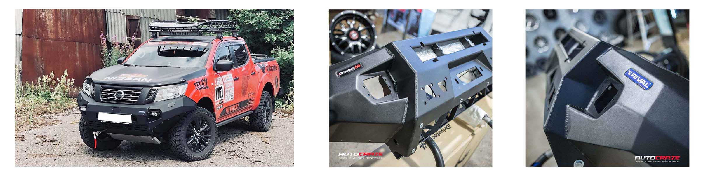 Images of the Rival Bumper Bar on a Nissan Navara.