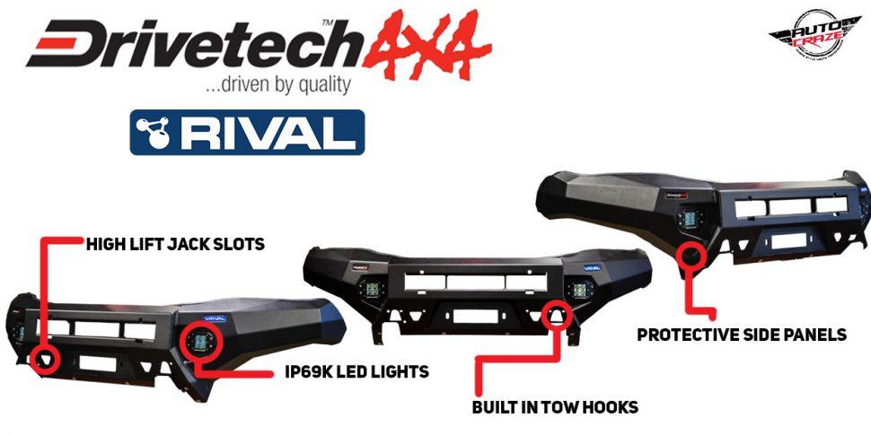Drivetech 4X4 x Rival bumper bull bar