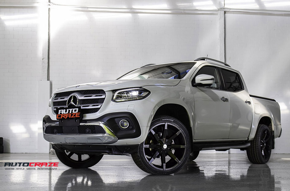 Mercedes X Class Accessories KMC Slide Wheels Continental Tyres Lift Kit Front Close Shot May 2018