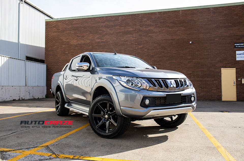 Mitsubishi Triton Diesel Avalanche Wheels Nitto Tyres Front Close Shot August 2018