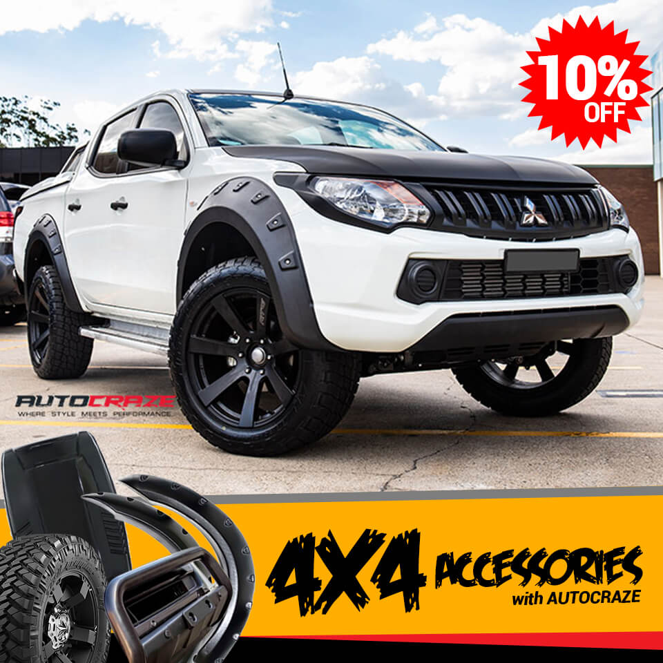 White Mitsubishi Triton 4x4 Accessories
