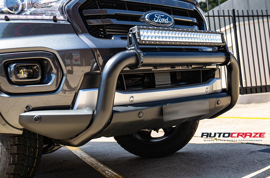 Ford Ranger Fuel Beast Wheels Nitto Terra Grappler Tyres Front Accessories Close Up Shot Gallery Jan 2019