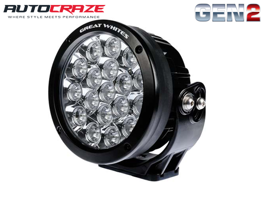 Great White 18 LED Round Driving Light