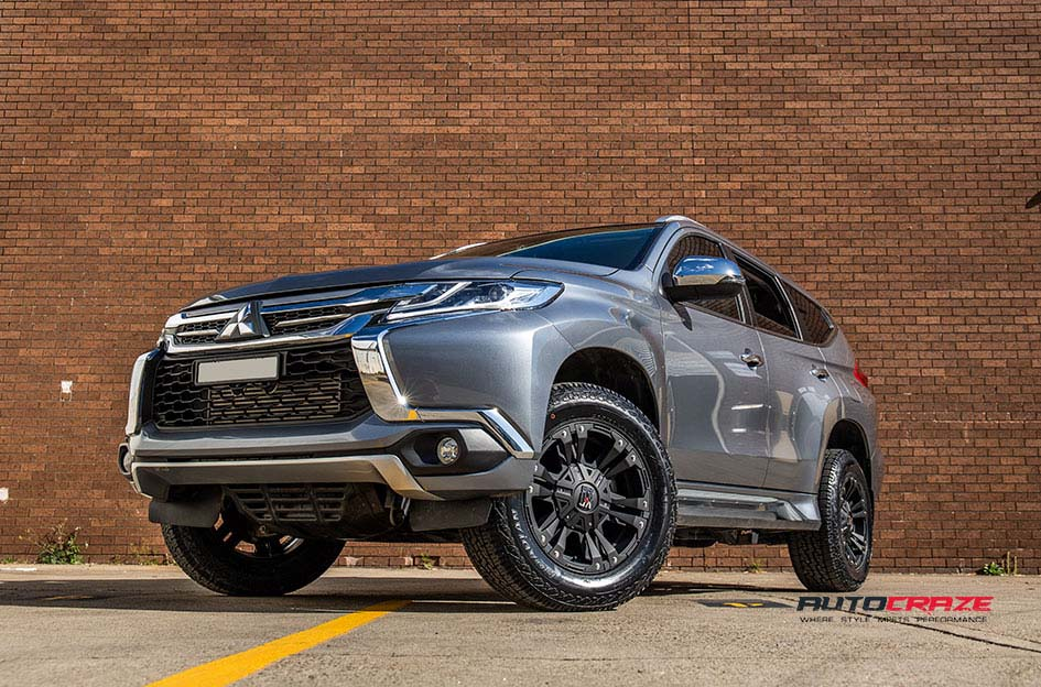 Mitsubishi Pajero Sport KMC Monster XD Wheels Nitto Tyres Front Close Shot Gallery August 2018