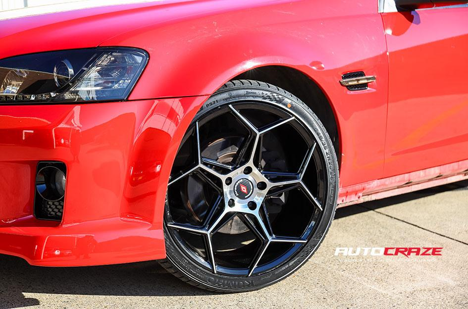 13Red Holden Commodore Inforged IFG40 Wheels Front Fitment Shot Gallery July 2020_large