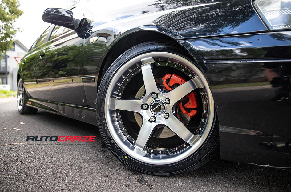 Ford Falcon FG XR8 King Detroit Machined Face Wheels Front Fitment Close Up Shot Gallery Feb 2019