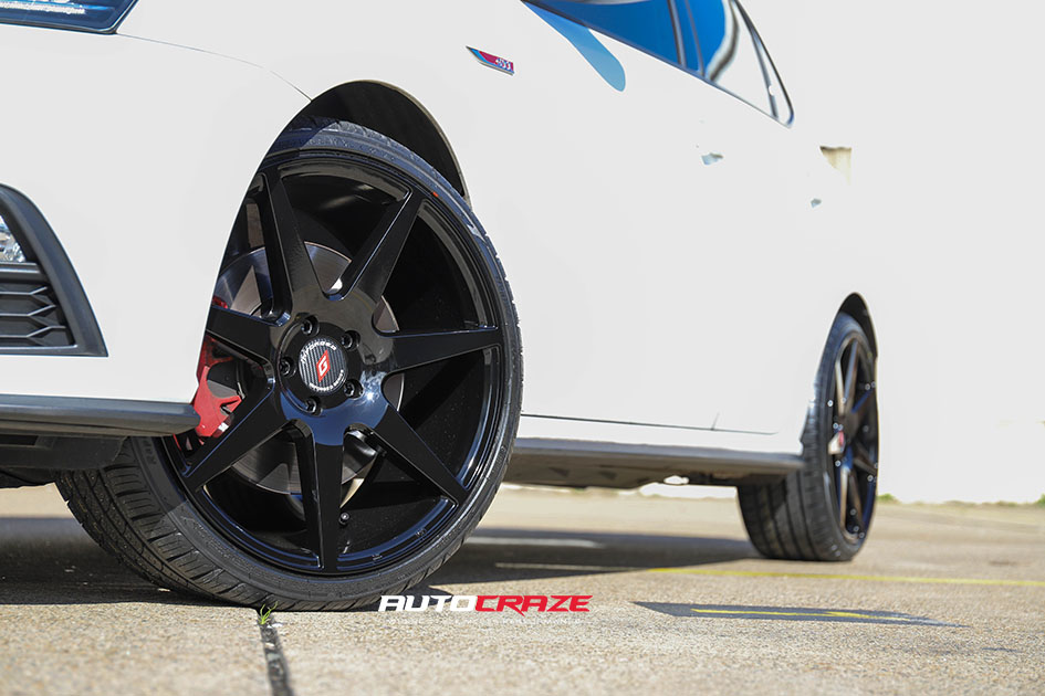 White Volkswagen Polo GTI Inforged IFG13 Wheels Front Fitment Shot Gallery June 2020
