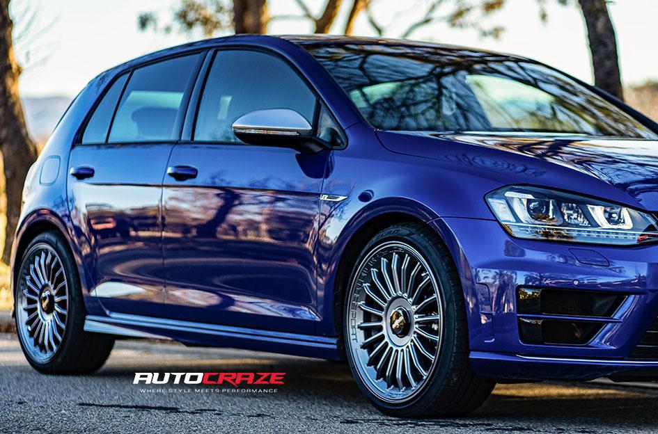 Volkswagen Golf R Rotiform Buc Wheels Front fitment Shot Gallery June 2020